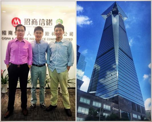 Visiting Cigna Shenzhen Office 2016