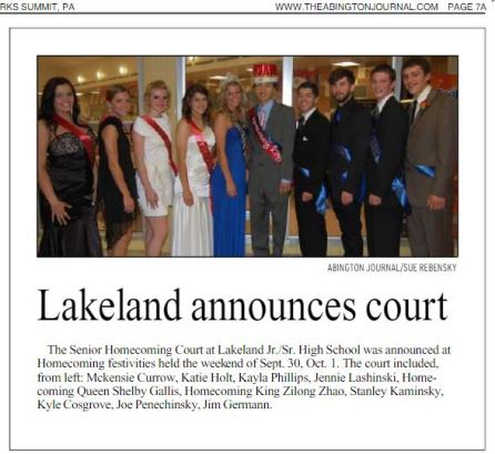 2011 - Lakeland Homecoming King