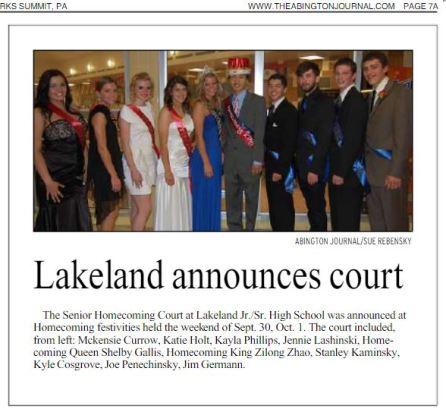 2011 - Lakeland Homecoming King