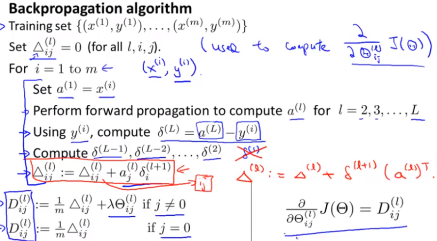 COURSERA MACHINE LEARNING COST FUNCTION - Andrew Ng Deep